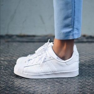 Adidas Superstar Leather All White